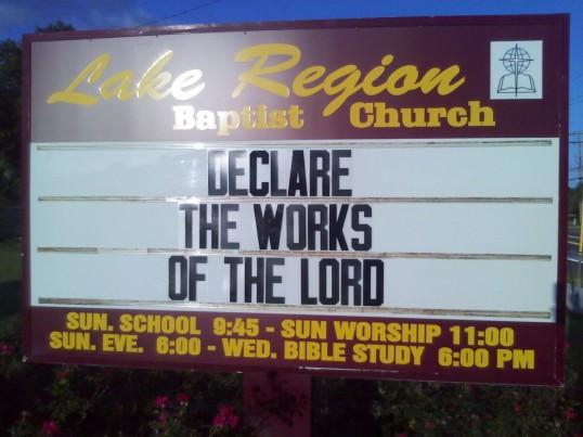 Psalm 118:17b